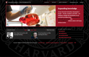 Harvard College Website 2009