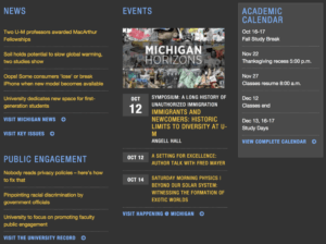 Michigan Cluttered College Website