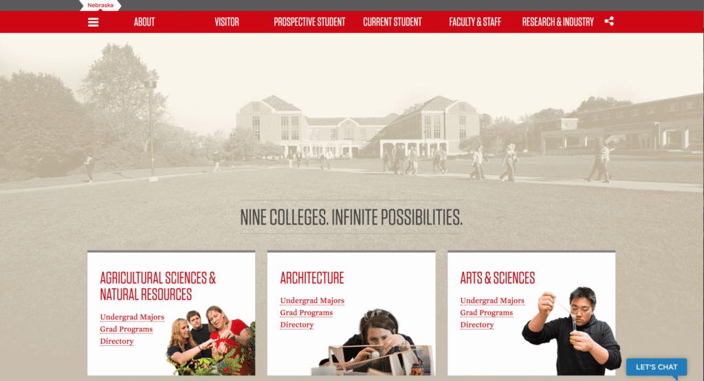 Nebraska College Website