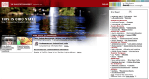 Ohio State College Website 2000