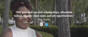 Social Proof on a College Website