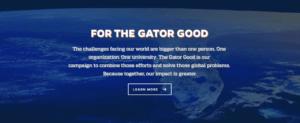 University of Florida Clarity in College Website