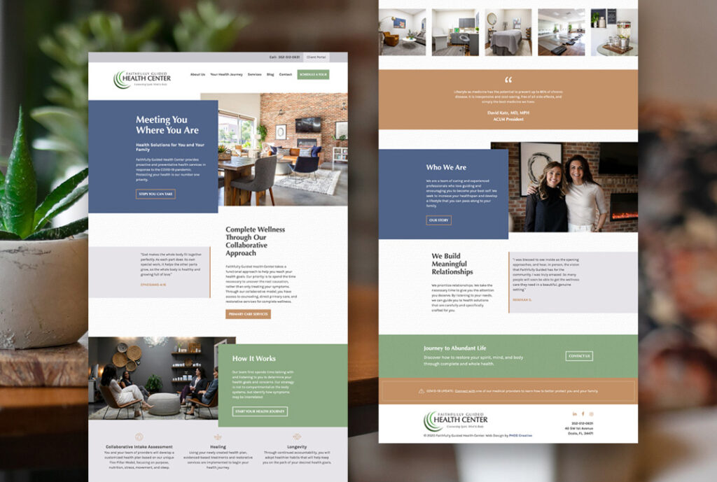 The Faithfully Guided Health Center website