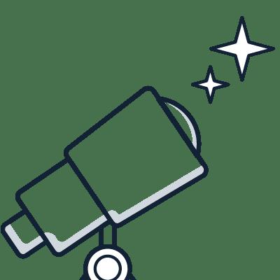 telescope iconography designating proactivity