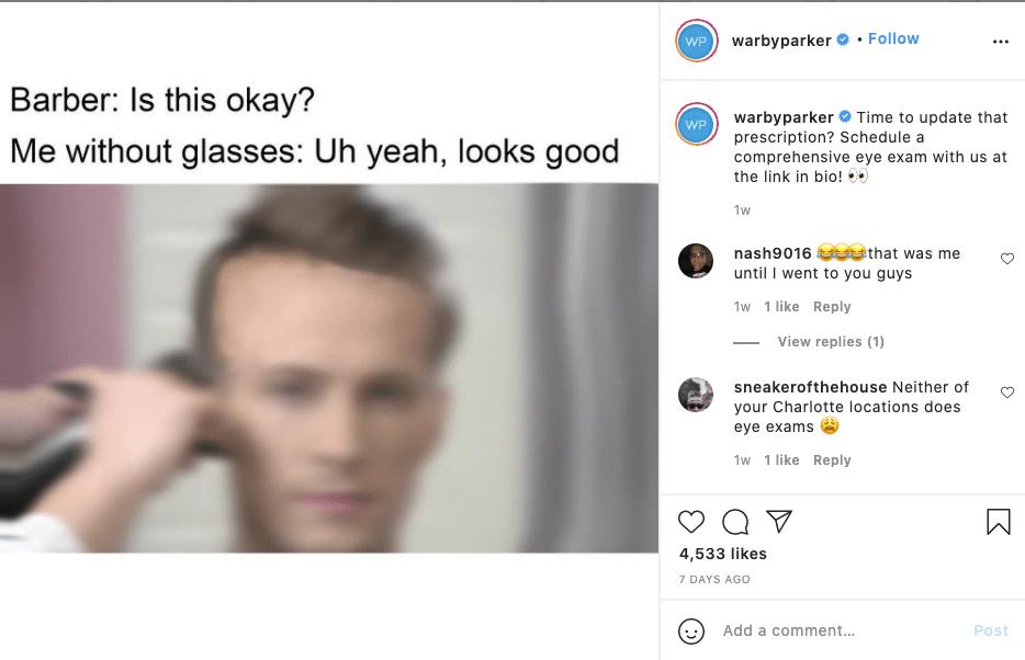 Warby Parker Social Media