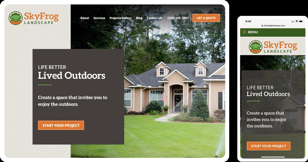 SkyFrog Landscape Website